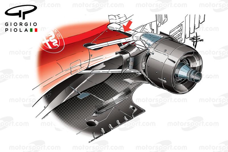 Ferrari SF16H brake duct, captioned, Canadian GP