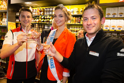 Hand imprint ceremony: 24 Hours of Le Mans 2015 winners Porsche Team Nick Tandy and Earl Bamber with Miss 24 Heures du Mans 2016