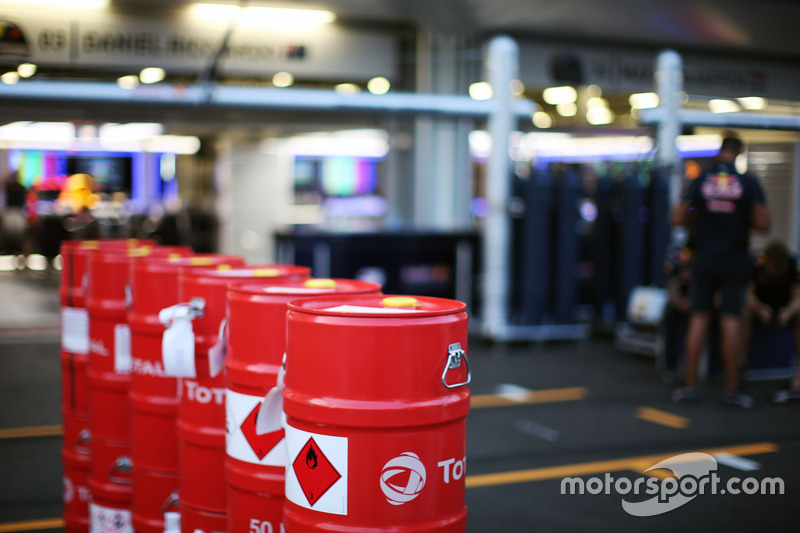 Red Bull Racing Total fuel churns