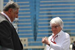 (L to R): Azad Rahimov, Azerbaijan Minister for Sport with Bernie Ecclestone
