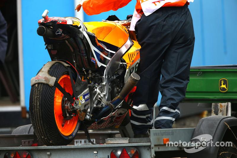 Moto chocada de Marc Márquez, Repsol Honda Team