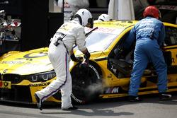 Kühlung der Bremsen am Auto von Timo Glock, BMW Team RMG, BMW M4 DTM