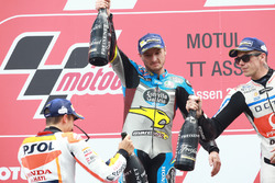 Podium: winnaar Jack Miller, Marc VDS Racing Honda en Marc Marquez, Repsol Honda Team