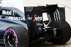 Fernando Alonso, McLaren MP4-31 rear wing end plate