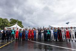 All drivers and Formula E staff