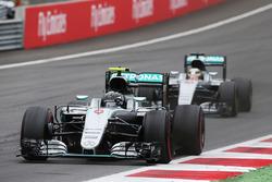 Nico Rosberg en Mercedes AMG F1 W07 Hybrid