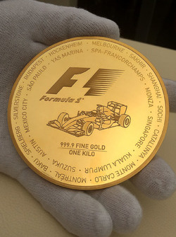 Formula 1, gold coin