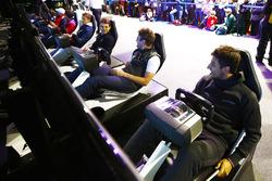 Mitch Evans, Campos Racing; Oliver Rowland, MP Motorsport; Jordan King, Racing Engineering