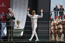 Nico Rosberg, Mercedes AMG F1 op het podium