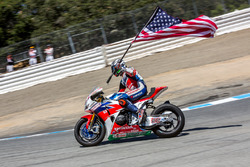 Nicky Hayden, Honda World Superbike Team, fête sa troisième place
