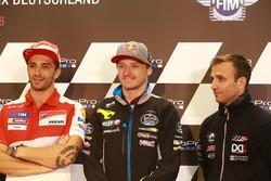 Andrea Iannone, Ducati Team; Jack Miller, Marc VDS Racing, Honda; Johann Zarco, Ajo Motorsport