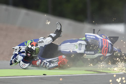 Jorge Lorenzo, Yamaha Factory Racing crash