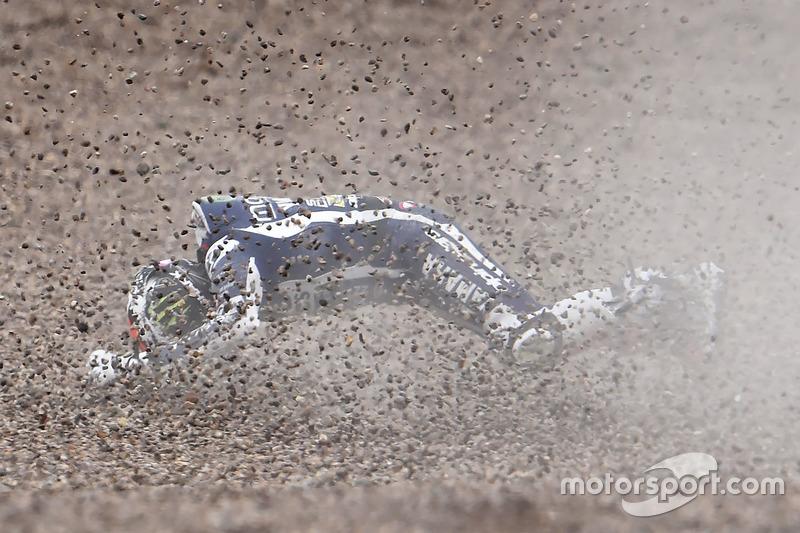 Sturz: Jorge Lorenzo, Yamaha Factory Racing