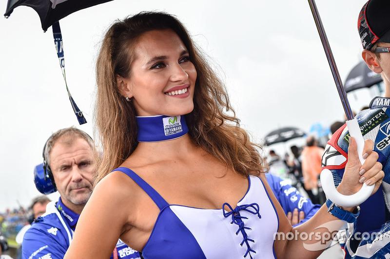 Lovely grid girl of Jorge Lorenzo, Yamaha Factory Racing