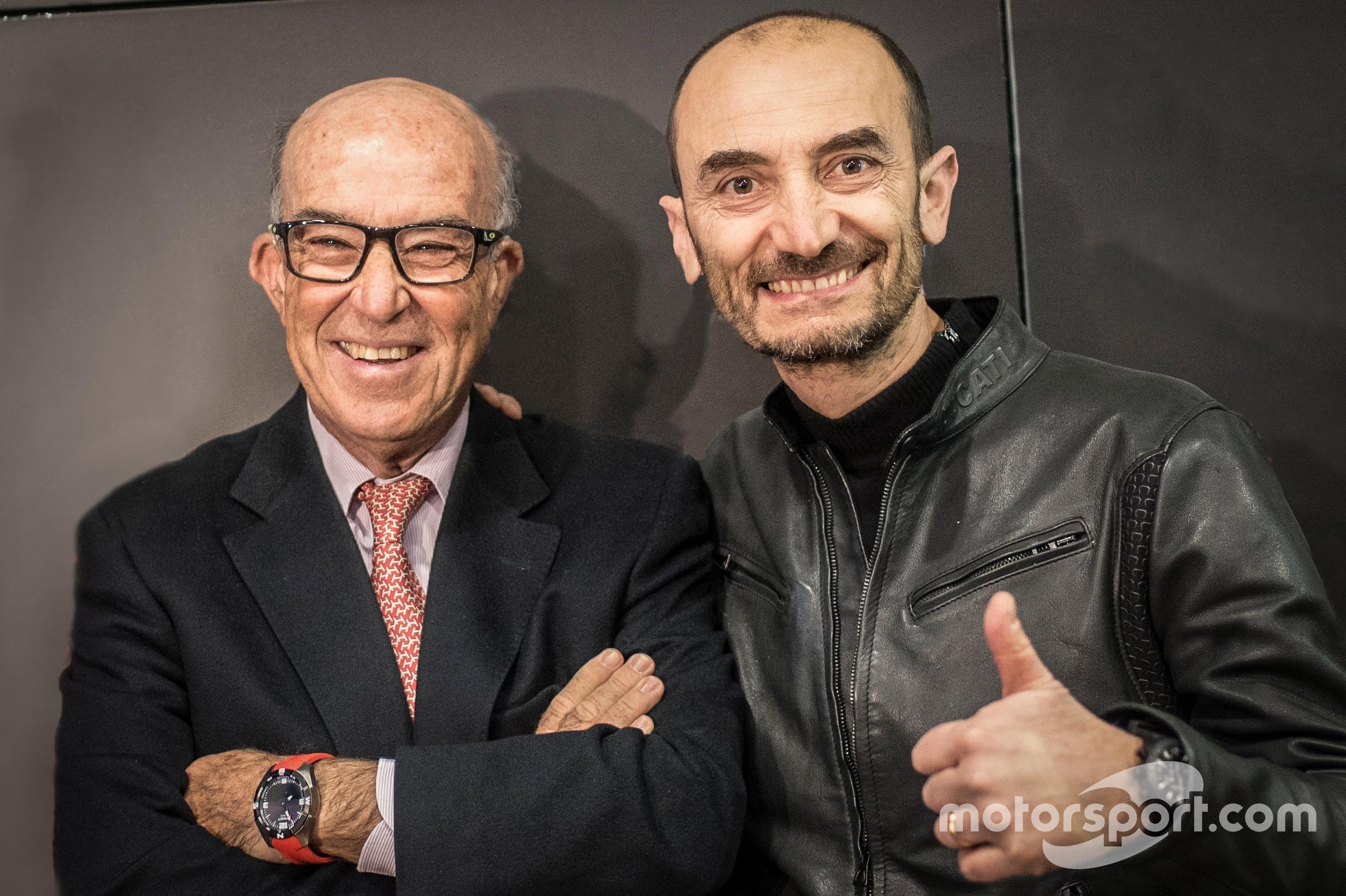 Carmelo Ezpeleta, Dorna, y Claudio Domenicali, Ducati