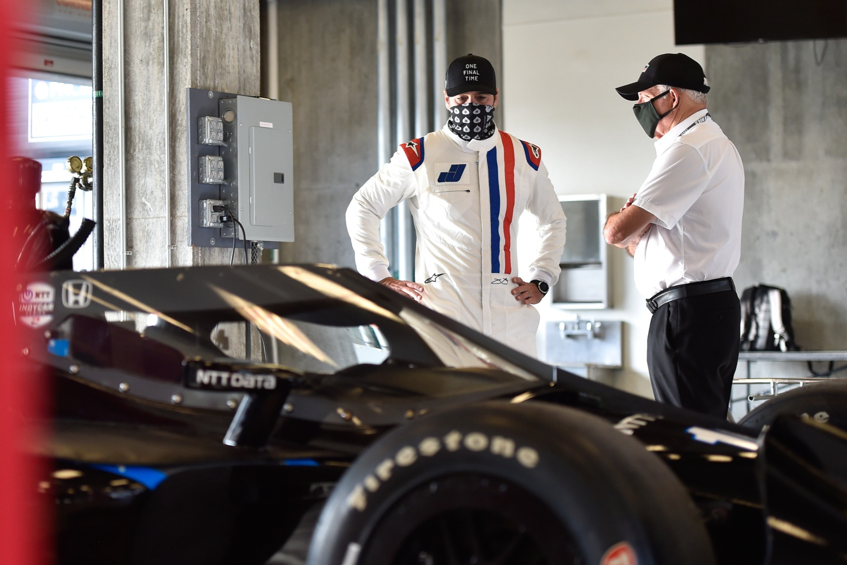 Jimmie Johnson, Mike Hull Indianapolis Motor Speedway IndyCar test 2020