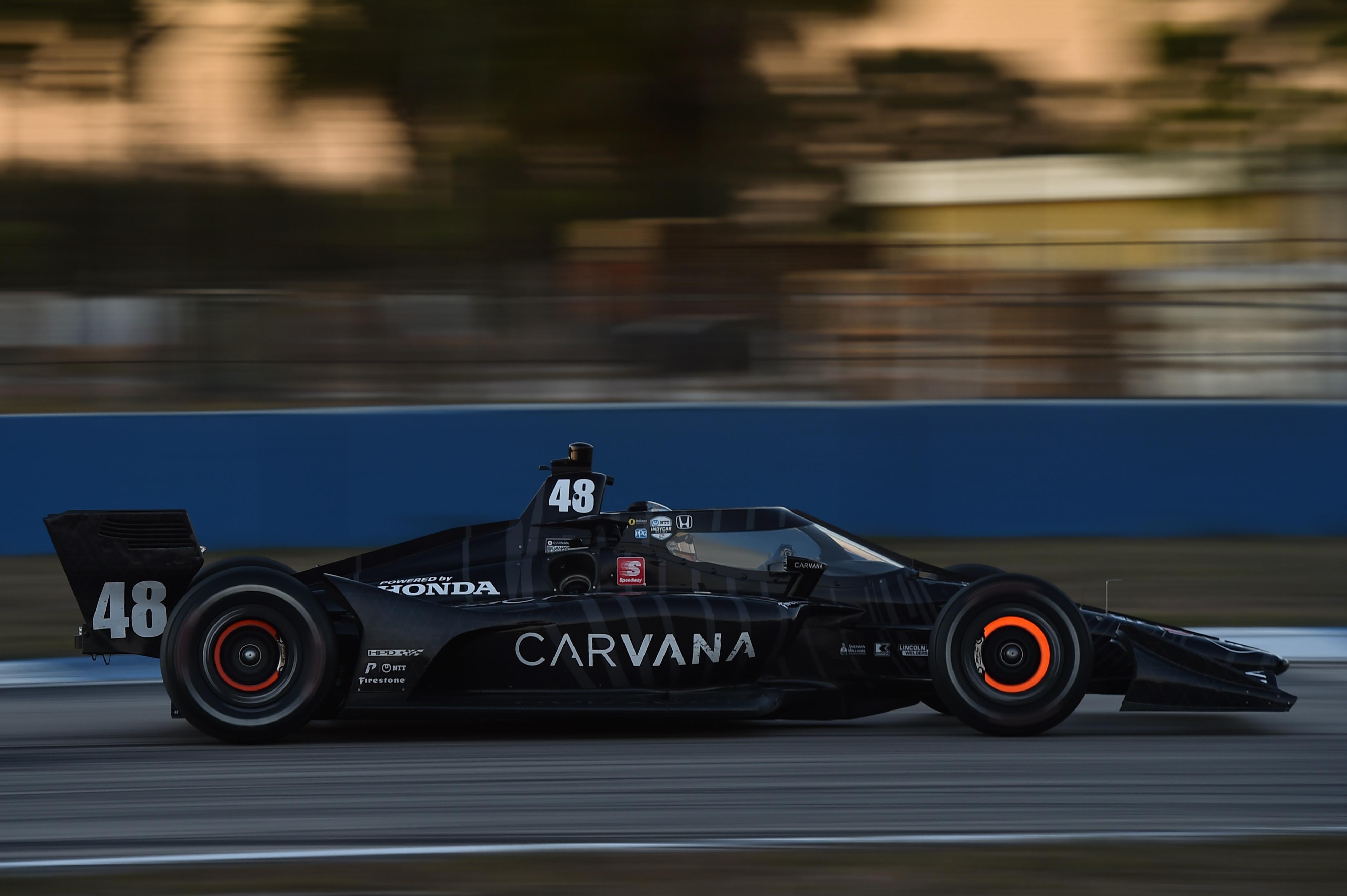 Jimmie Johnson IndyCar Sebring test 2021