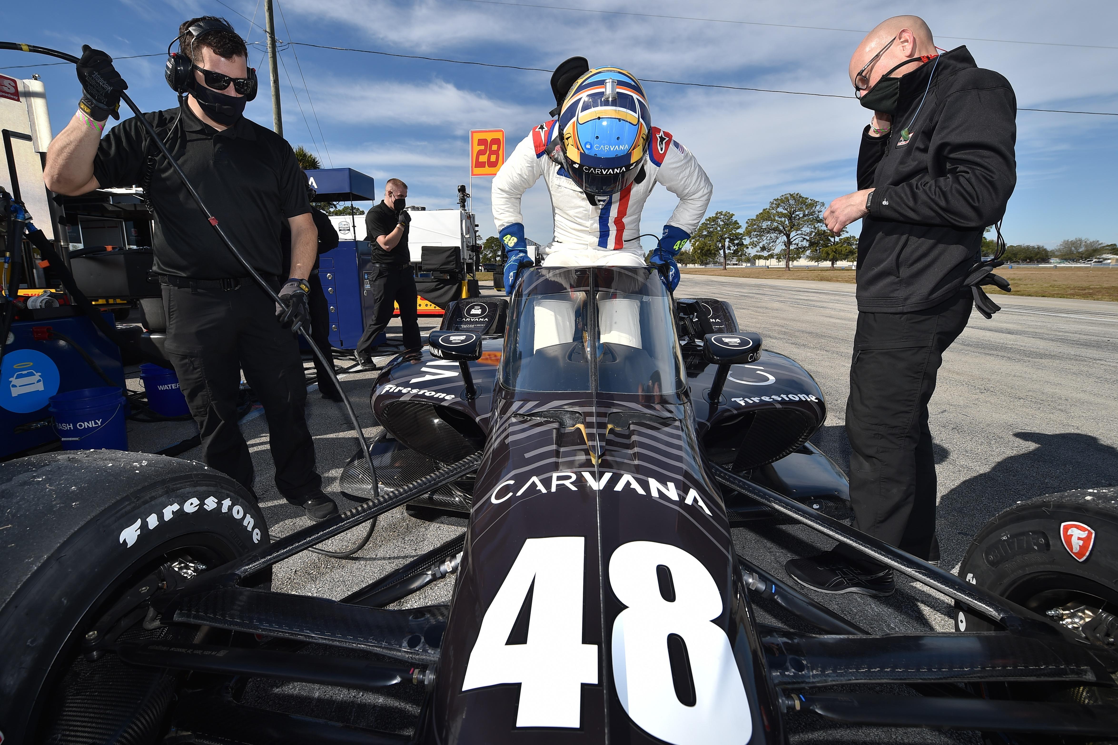 Jimmie Johnson 2021 IndyCar test Sebring