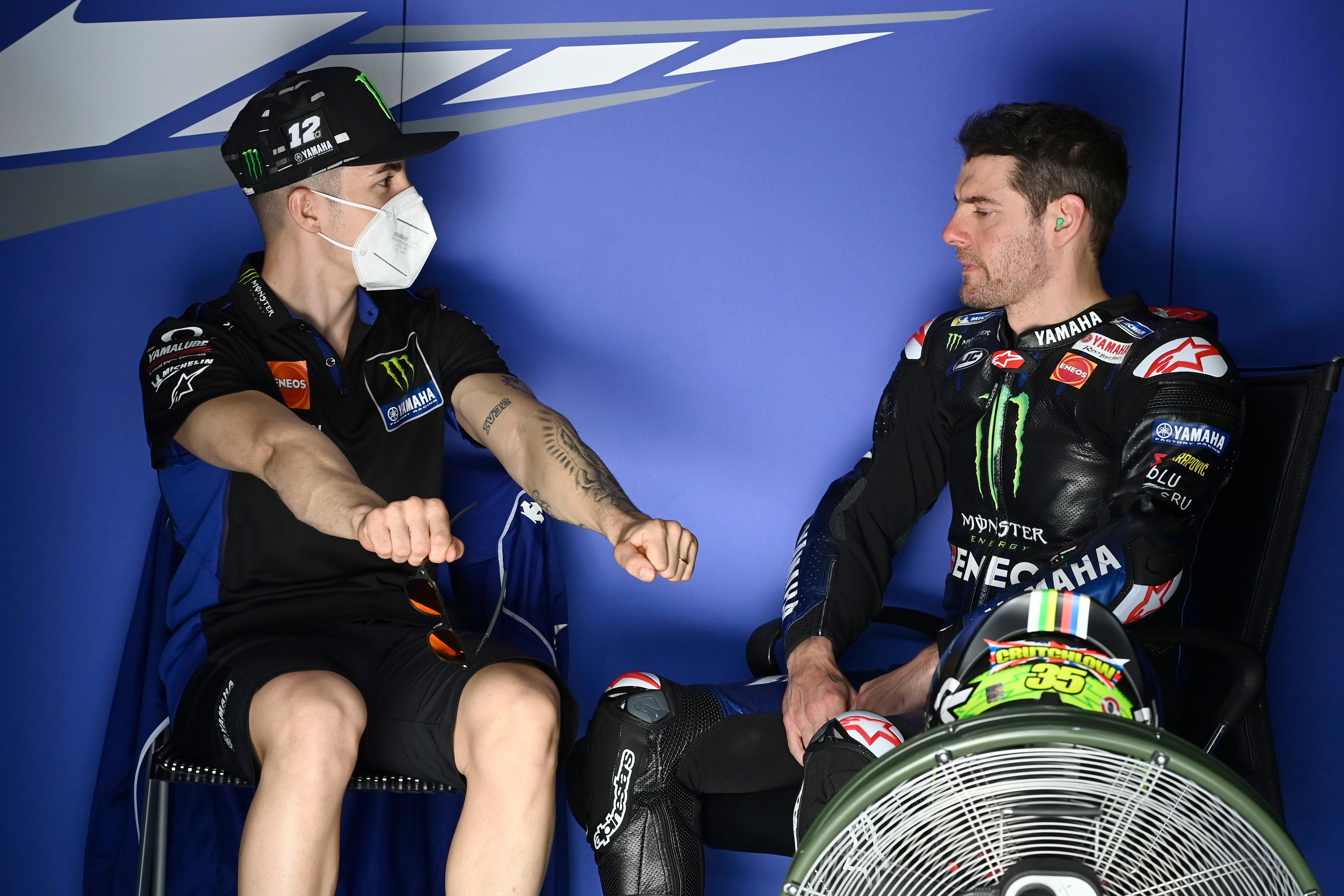 Maverick Vinales and Cal Crutchlow, 2021 MotoGP Qatar test