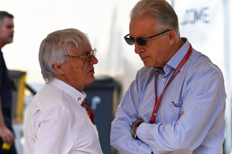 Bernie Ecclestone, Piero Ferrari 2016 Abu Dhabi Grand Prix