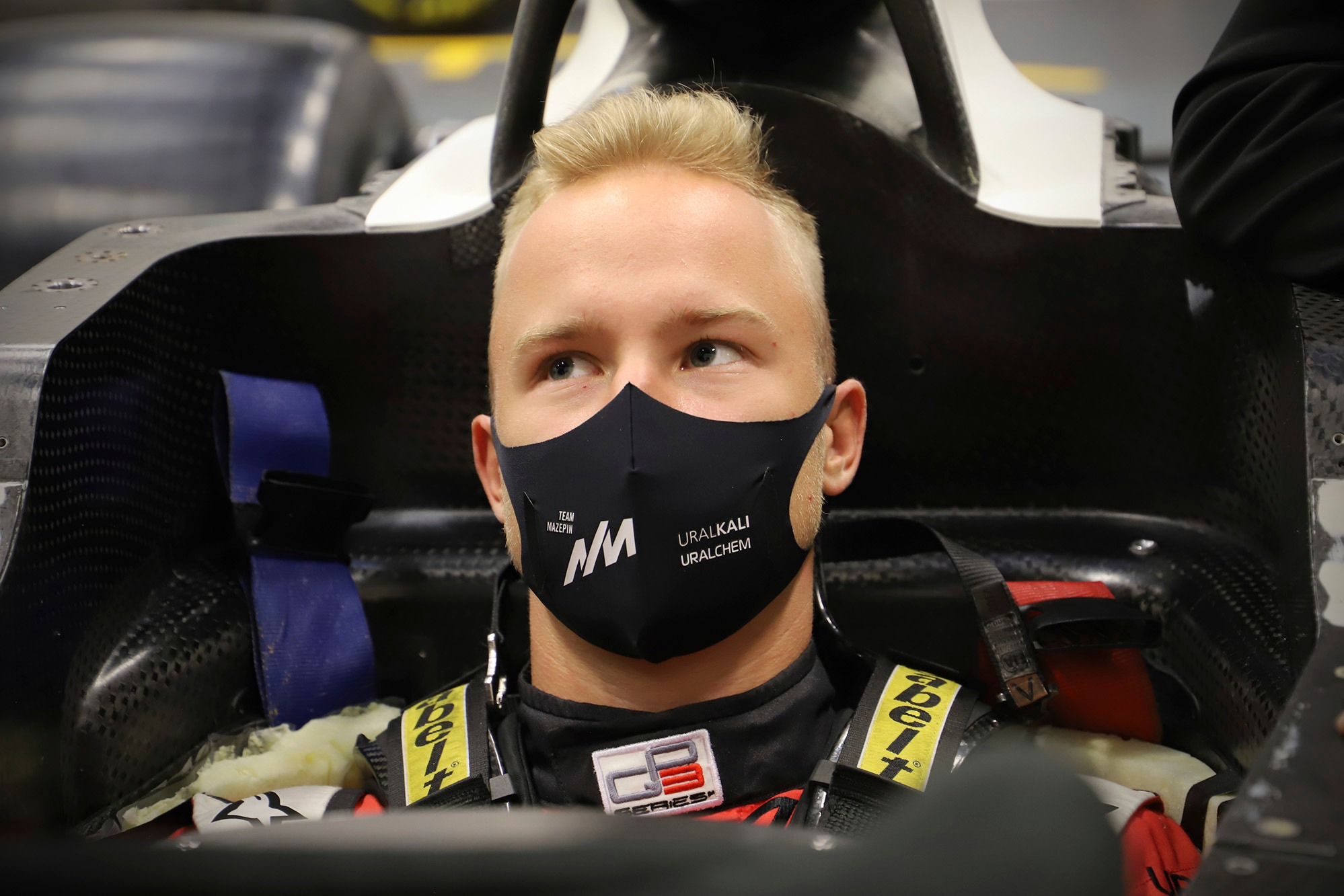 Nikita Mazepin, Haas F1 Team seat fitting