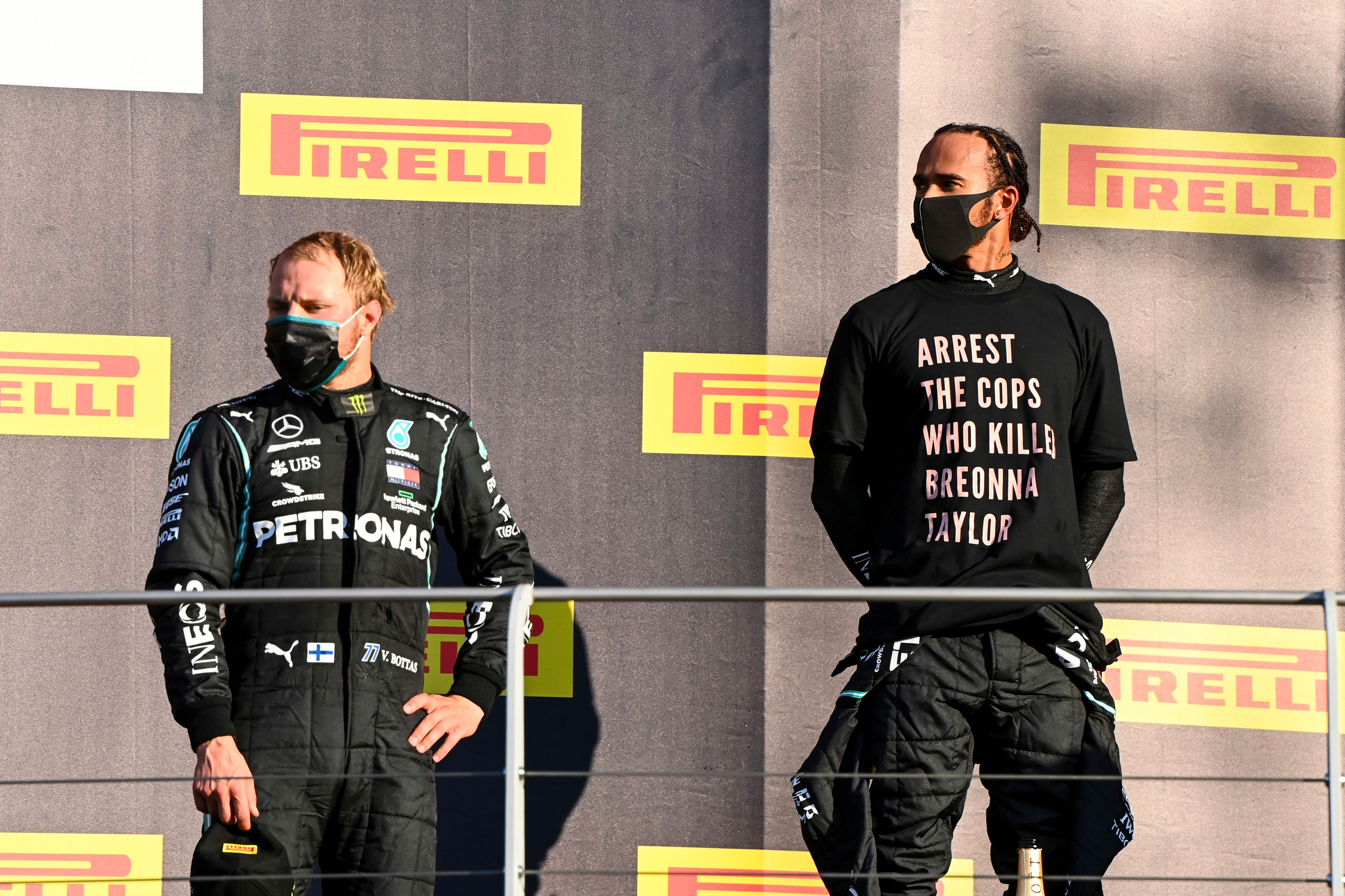 Lewis Hamilton y Valtteri Bottas, Mugello 2020