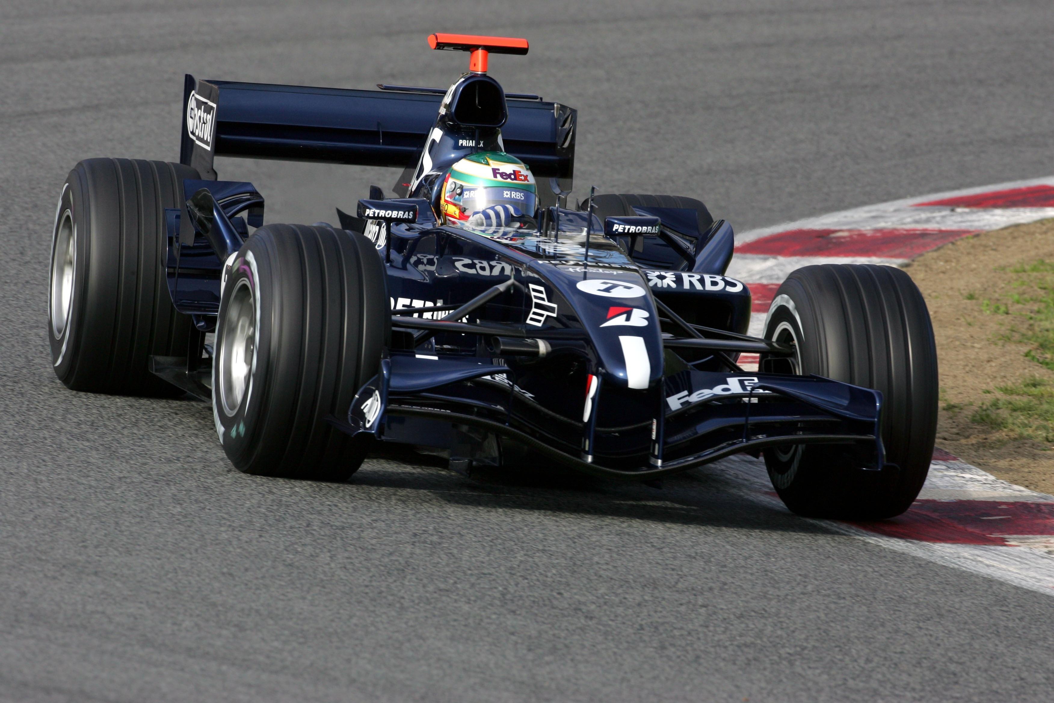 Andy Priaulx Williams F1 test 2005 Barcelona