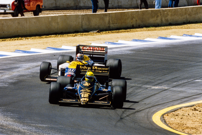 Ayrton Senna, Nigel Mansell, Formula 1 Spanish GP 1986
