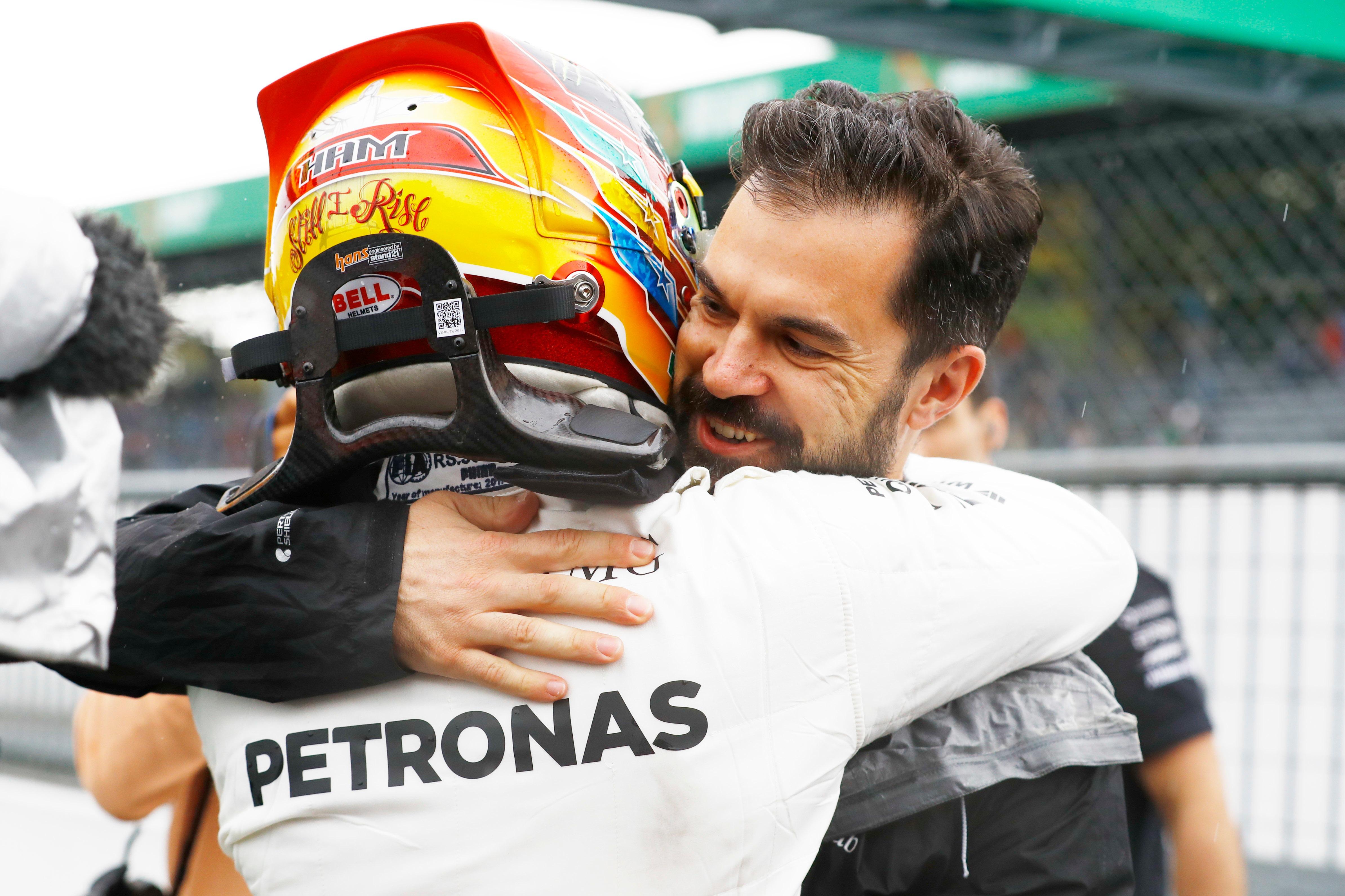 Lewis Hamilton and Marc Hynes