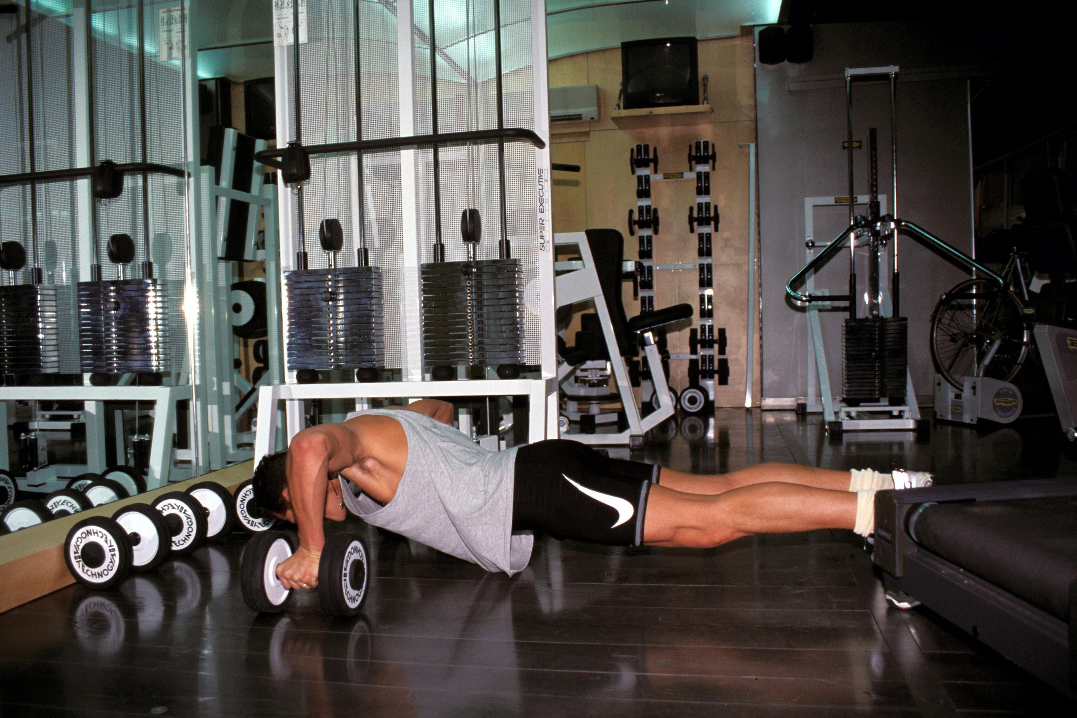 Michael Schumacher in the gym