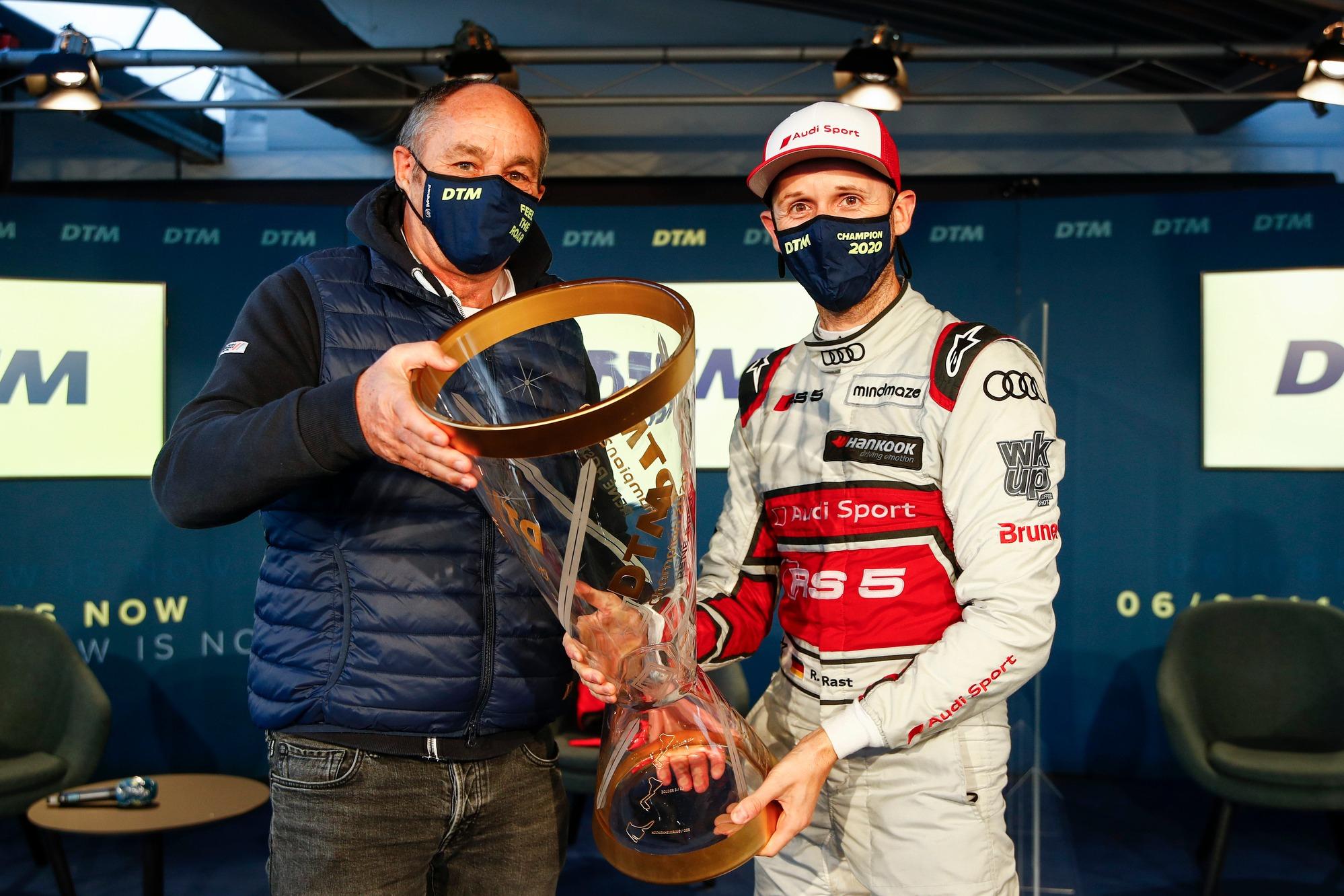 Gerhard Berger, ITR Chairman with Rene Rast, Audi Sport Team Rosberg