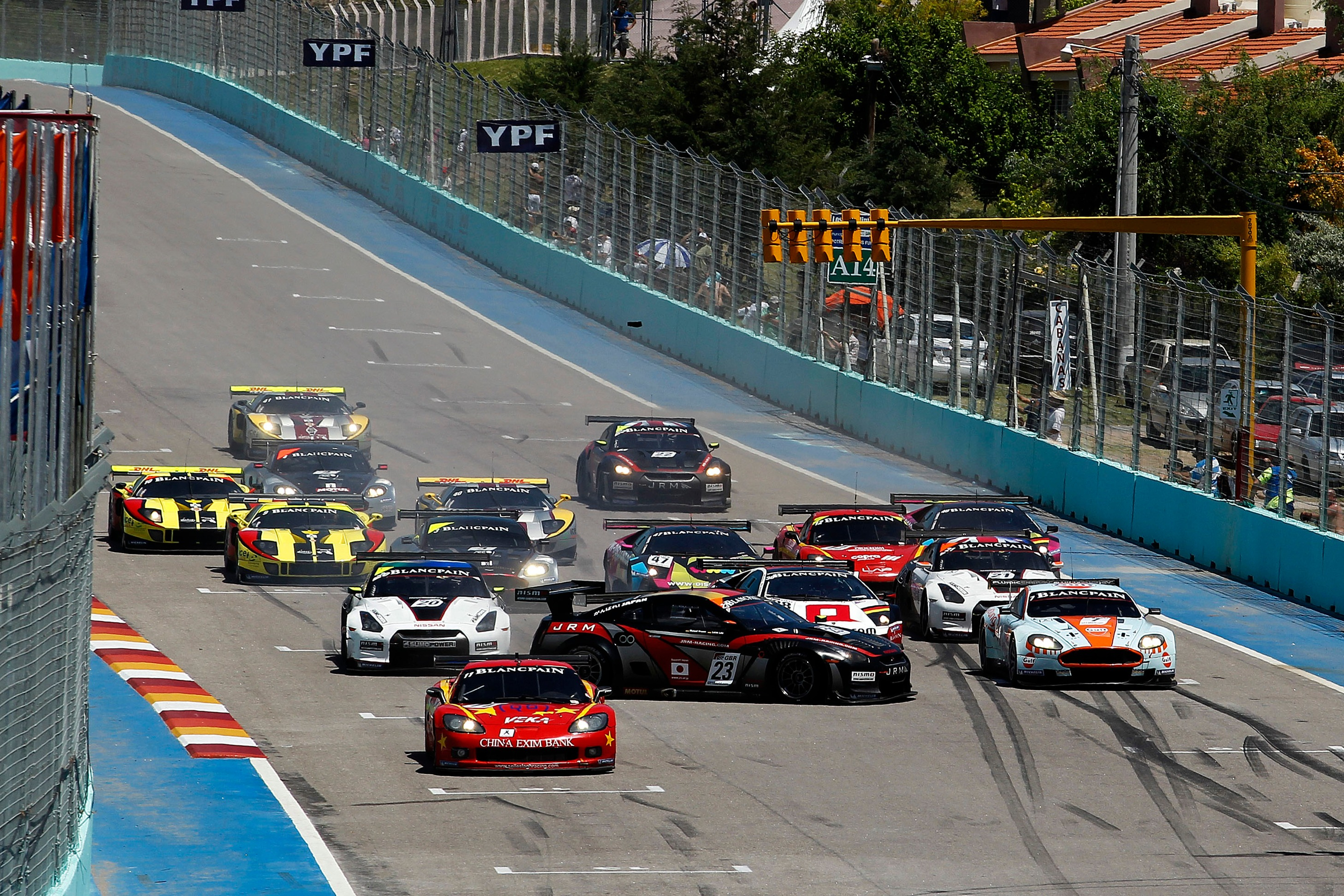 FIA GT1 2011 San Luis, start crash