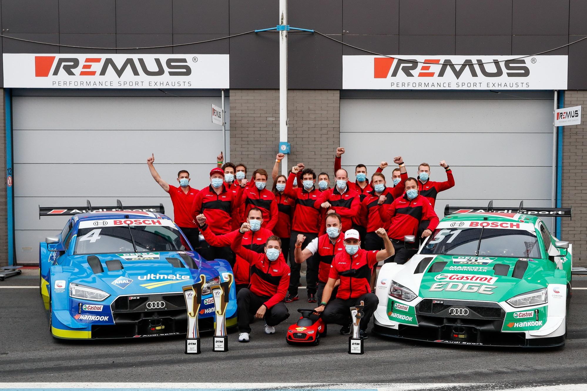 Nico Müller, Audi Sport Team Abt Sportsline, Robin Frijns, Audi Sport Team Abt Sportsline with the team