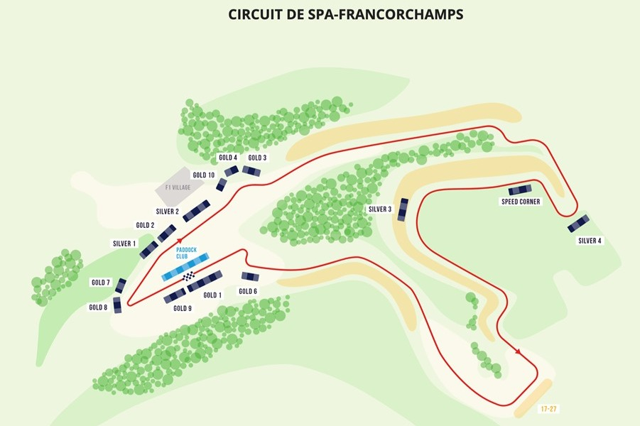 Circuit de Spa-Francorchamps grandstand map