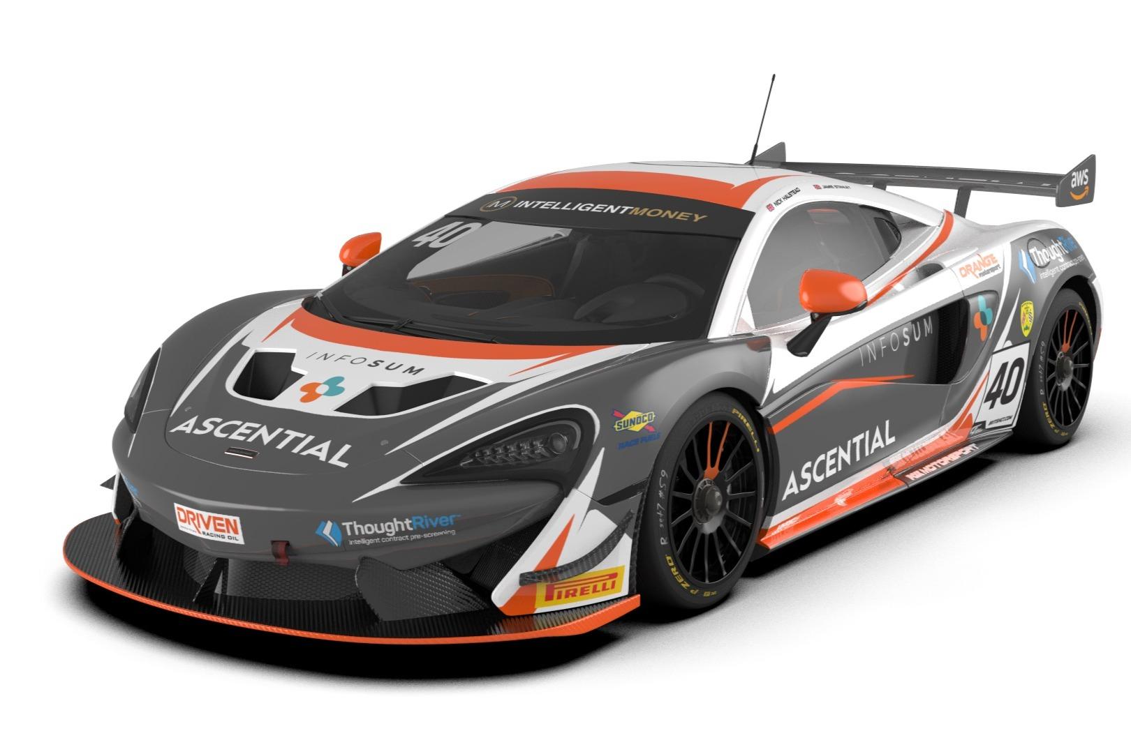 A render of the Fox Motorsport McLaren 570S GT4