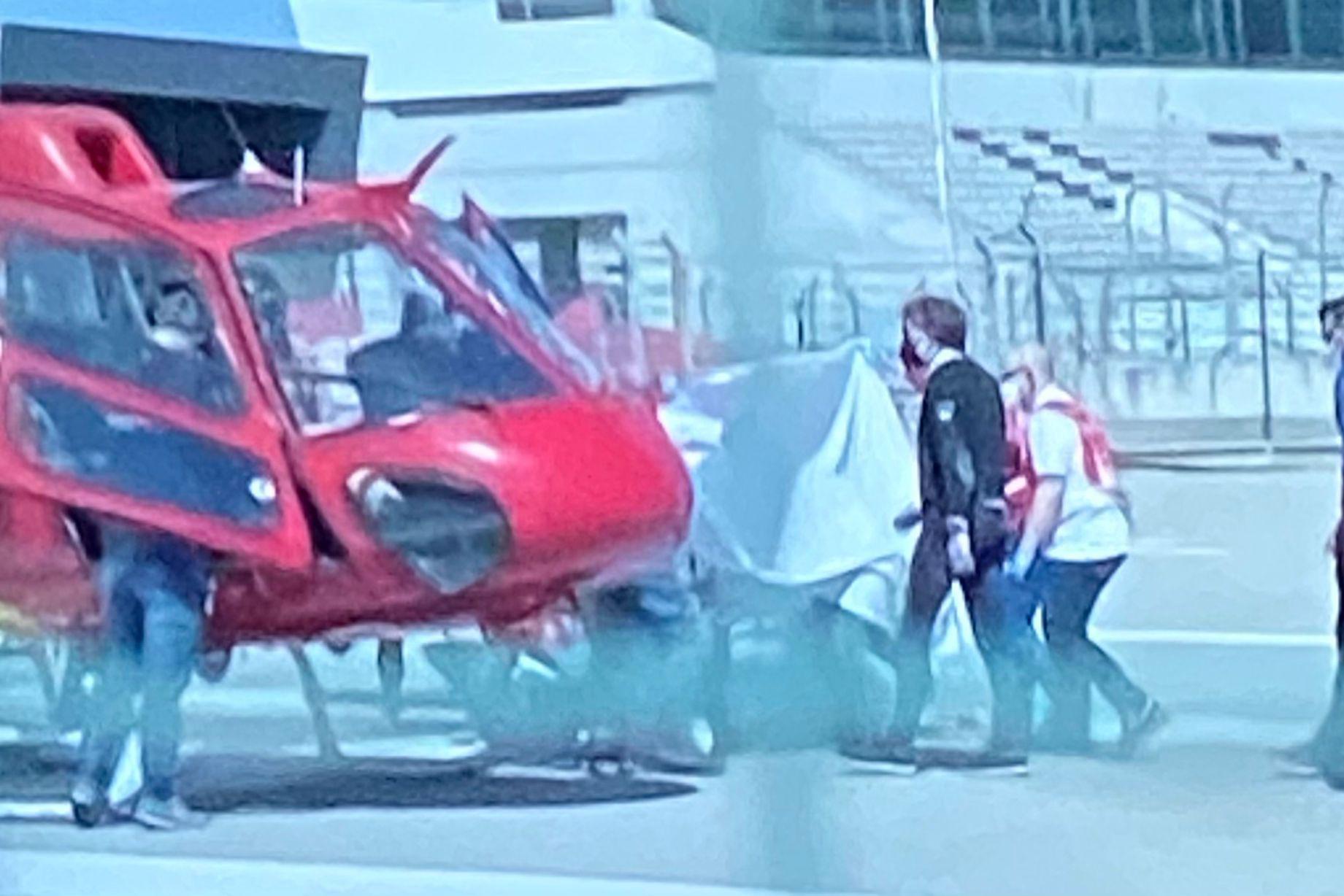 Jorge Martín, evacuado en helicóptero