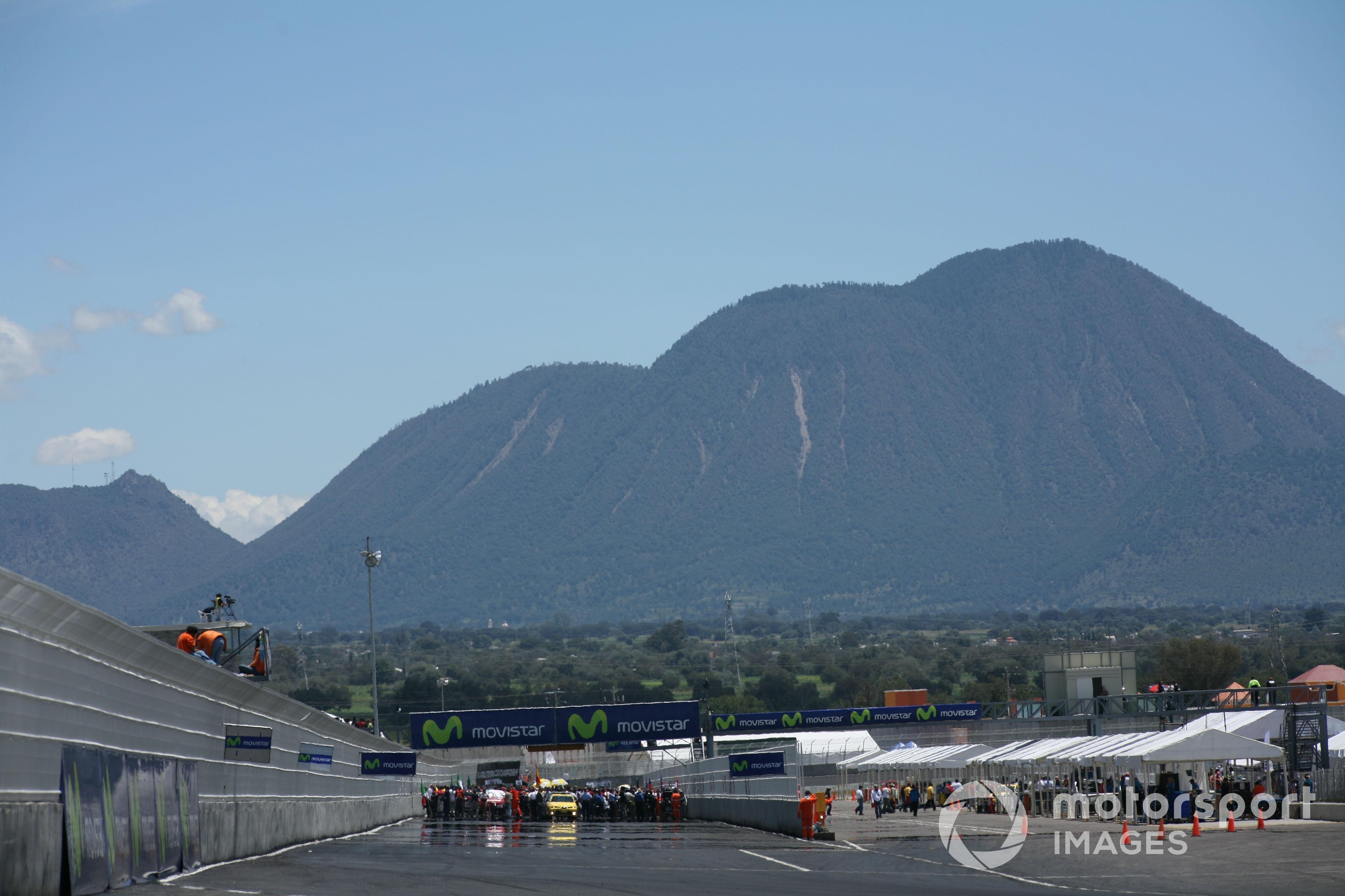 De ligging van het Autodromo Miguel E. Abed nabij Puebla.