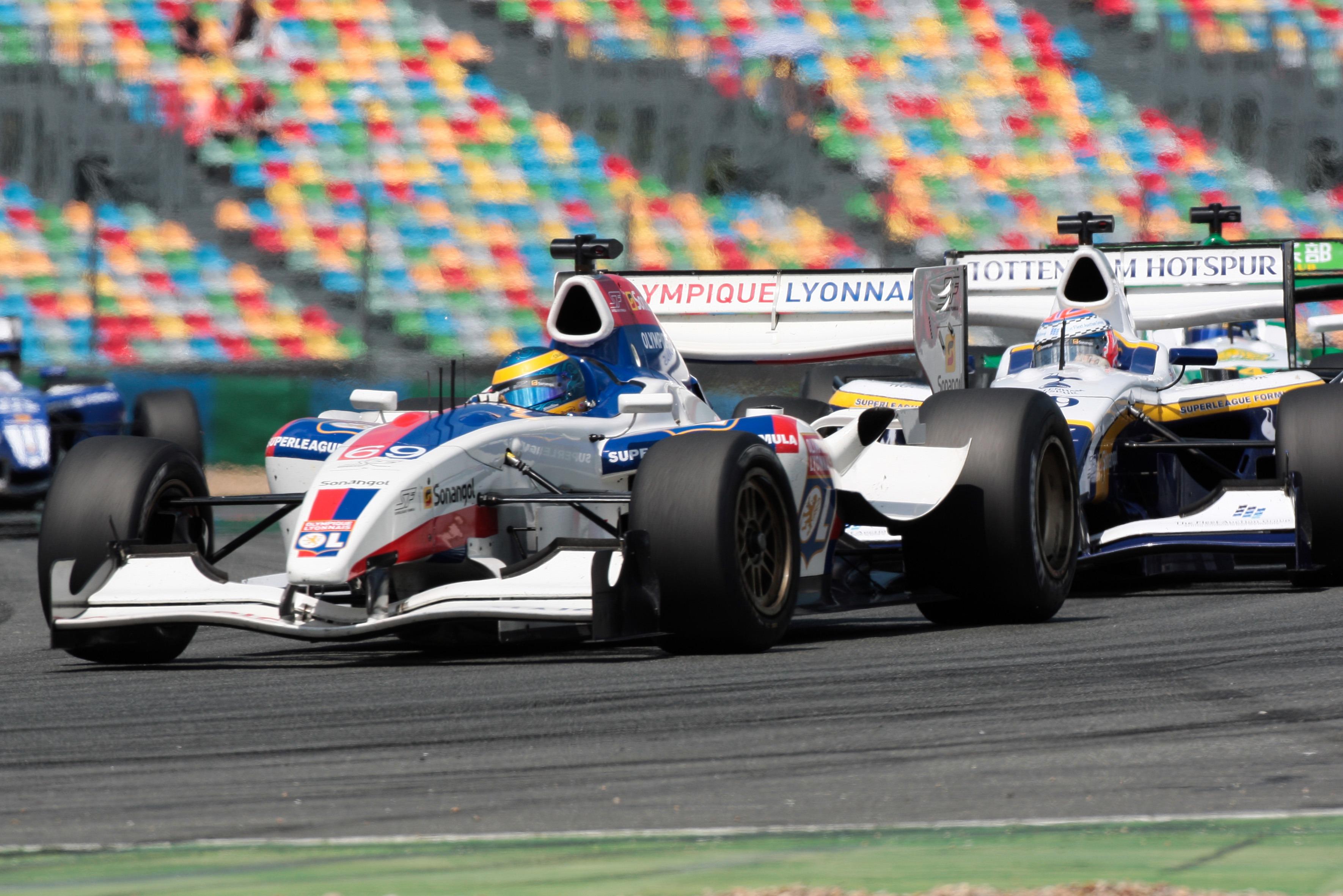 Sebastien Bourdais 2010 Superleague Formula Magny-Cours