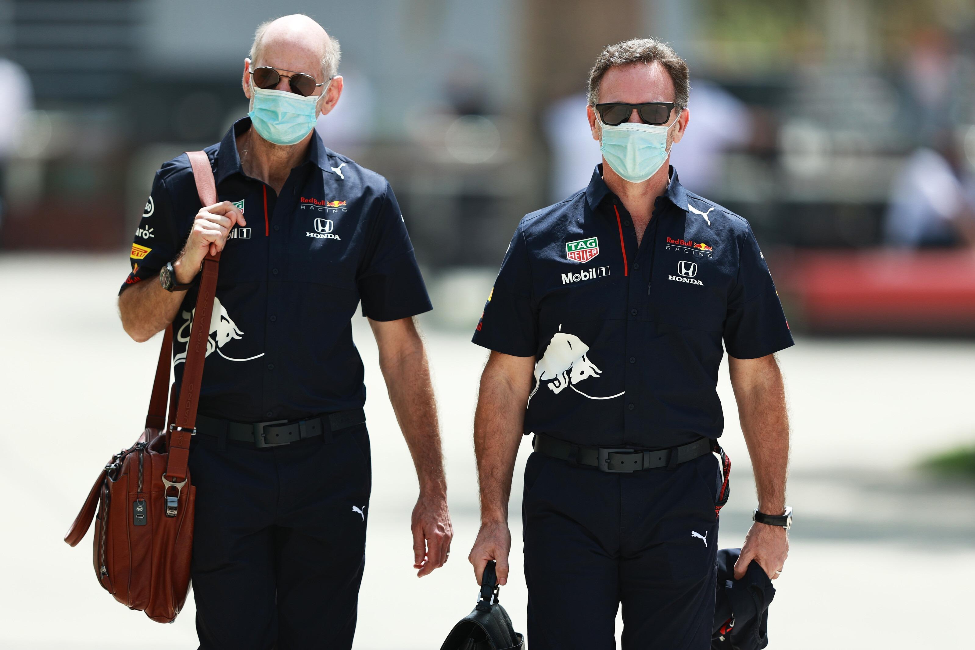 Adrian Newey, Christian Horner Bahrain 2021