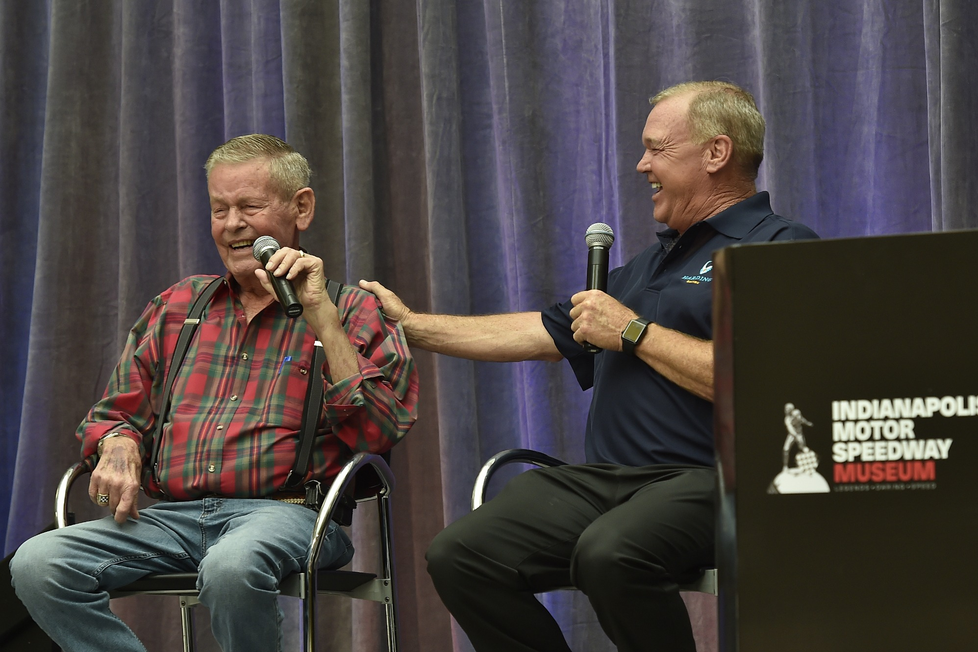 Bobby Unser, Al Unser Jr at IMS Museum