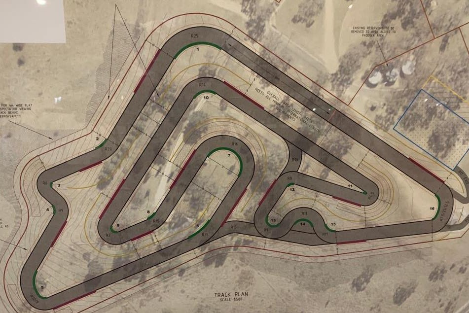 The proposed Mount Panorama kart circuit