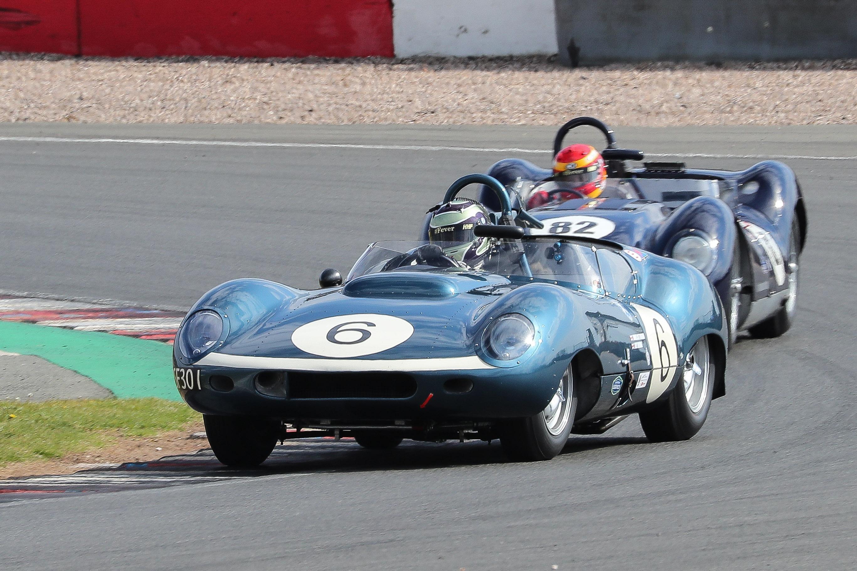 James Cottingham/Olly Bryant, Lister-Jaguar Costin, Stirling Moss Trophy, Donington Park Historic Festival 2021