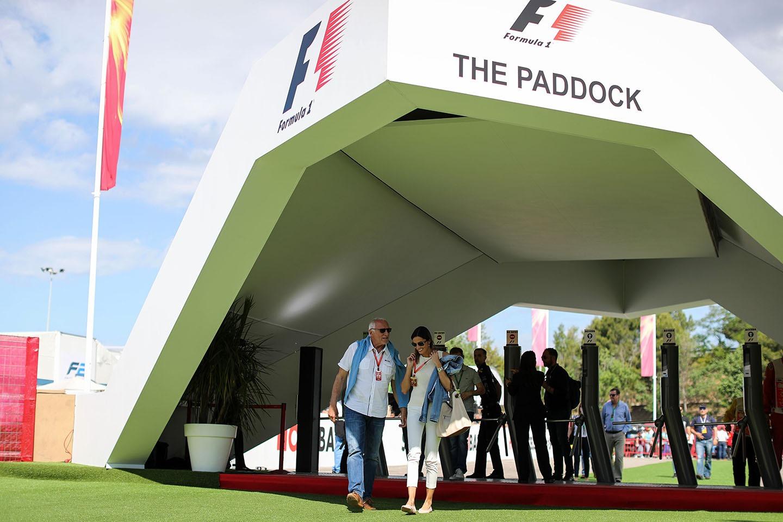 F1 paddock entrance