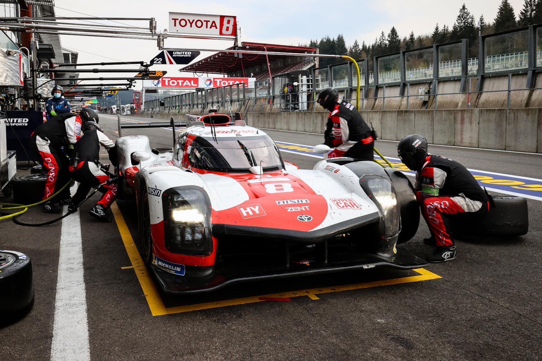 Toyota pitstop FIA WEC Spa 2021