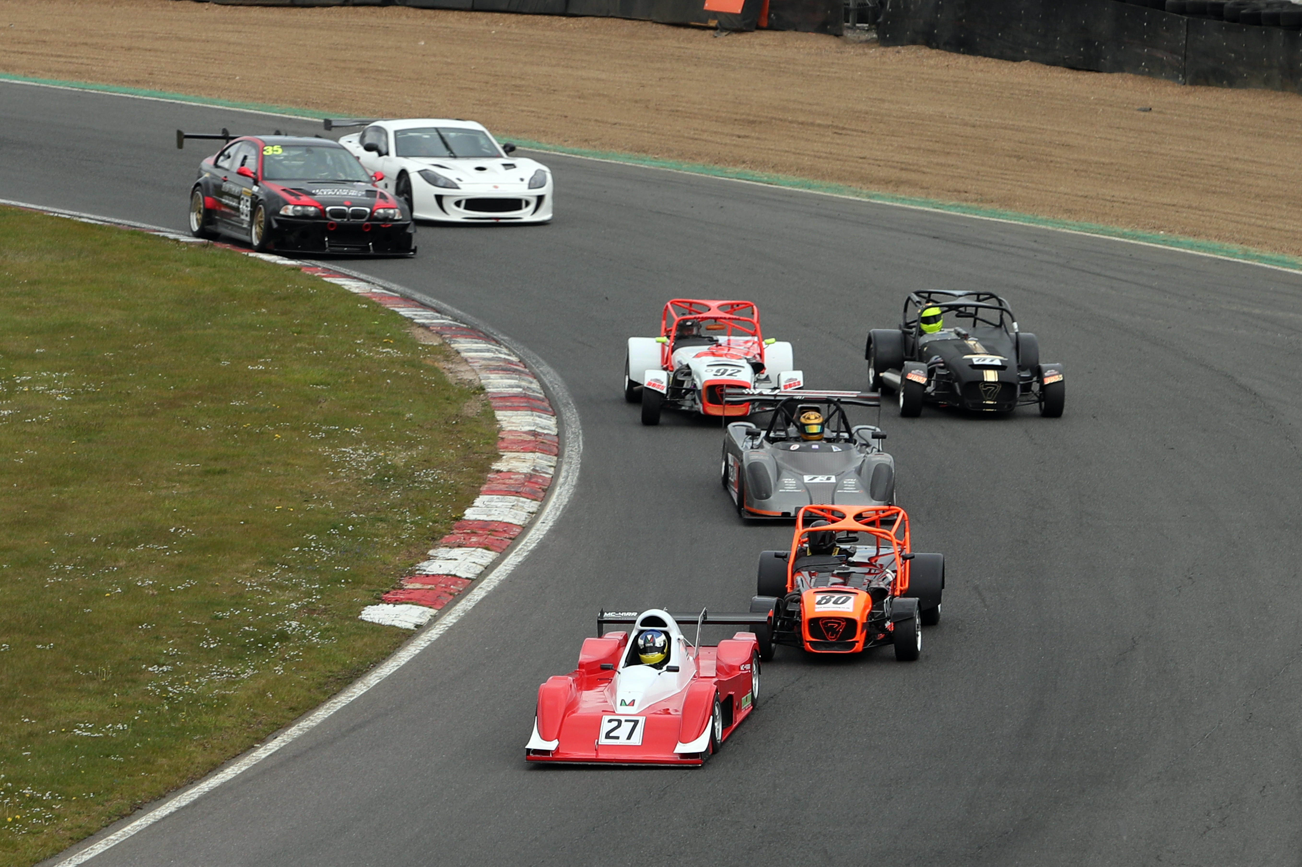 Scott Mittell leads the way in an Allcomers race at Brands Hatch. He eventually won by over 50 seconds