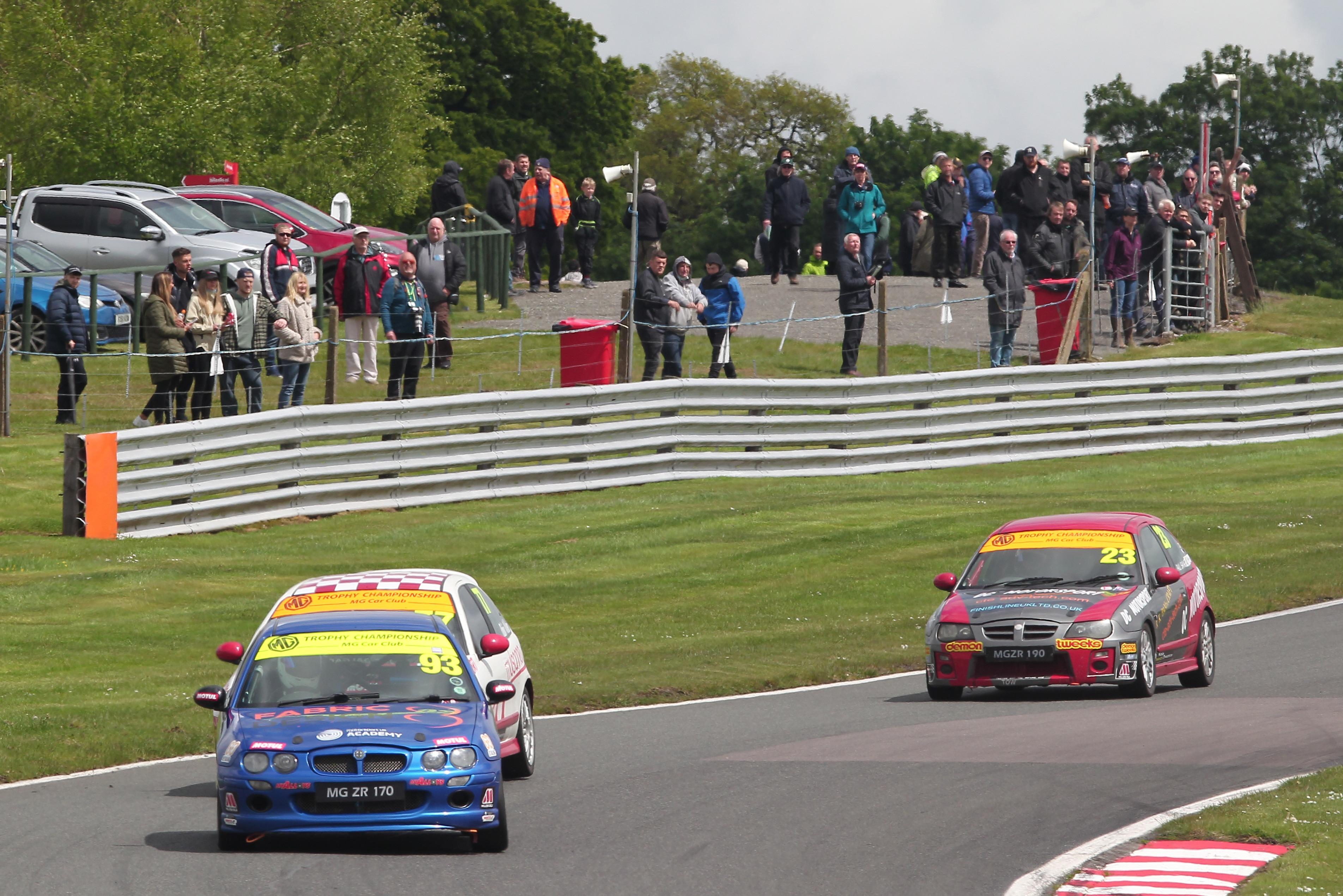 Spectators were back at Oulton Park for last weekend's MGCC event