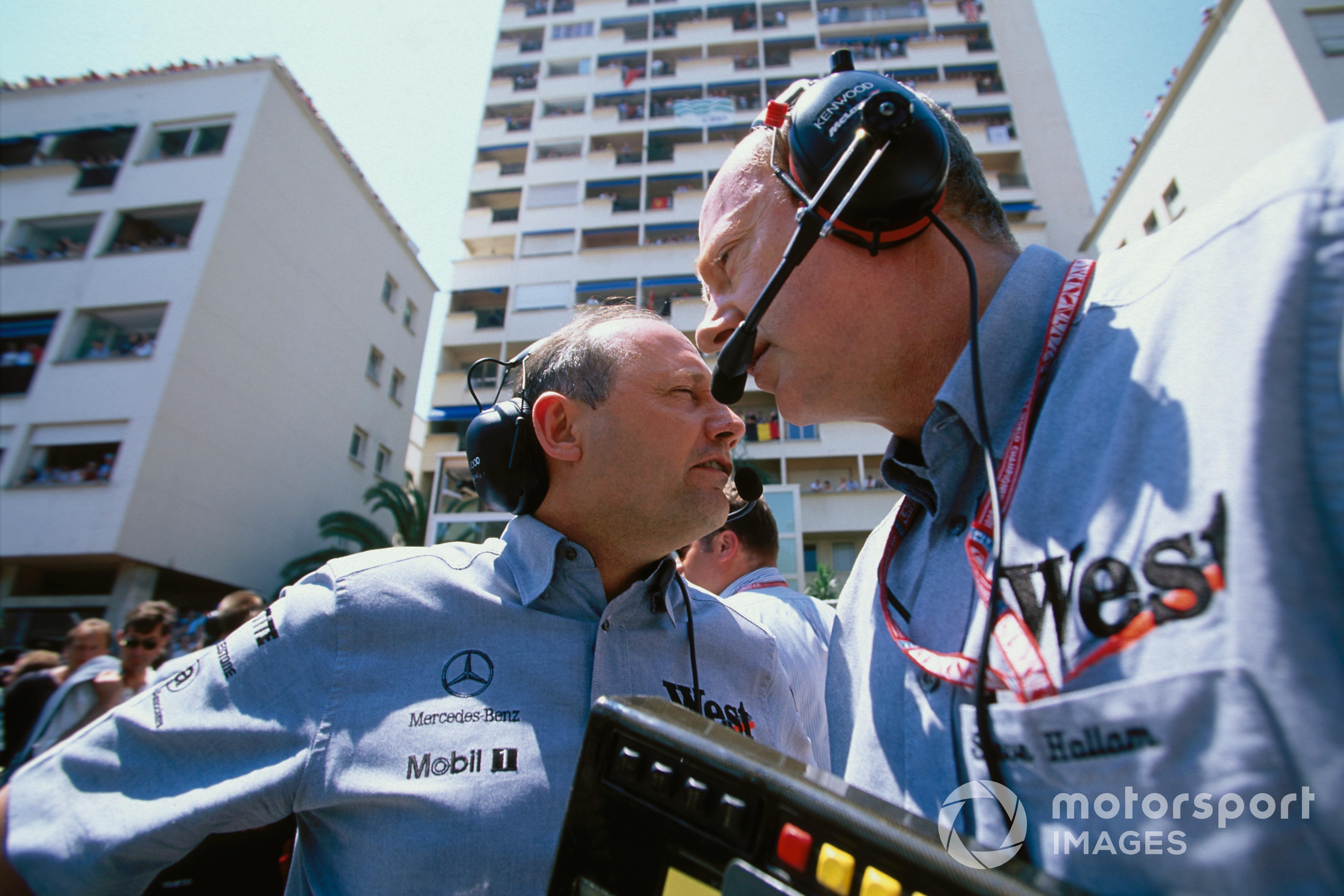 Ron Dennis and Steve Hallam. McLaren, 2001 Monaco GP