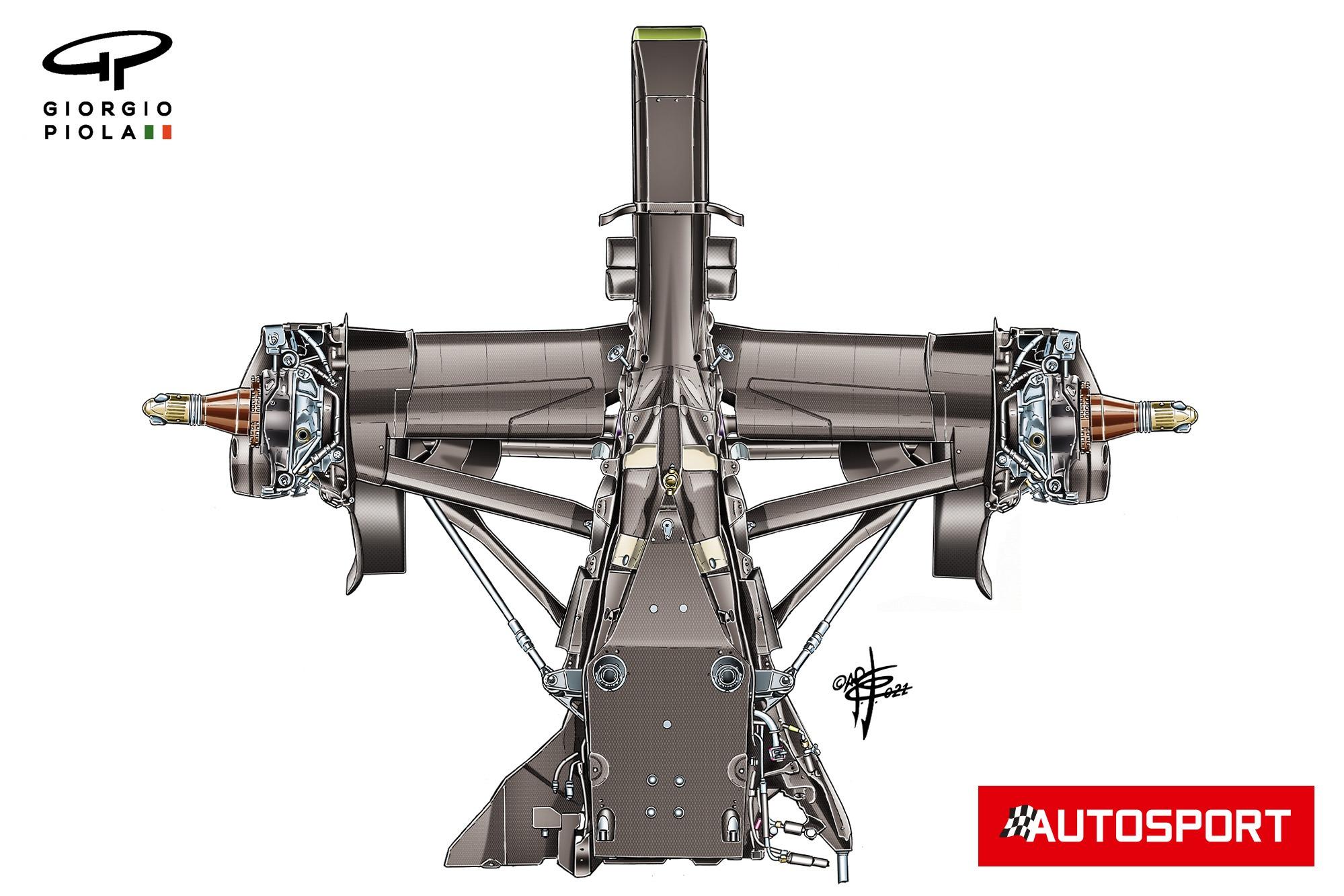 AlphaTauri AT02 suspension