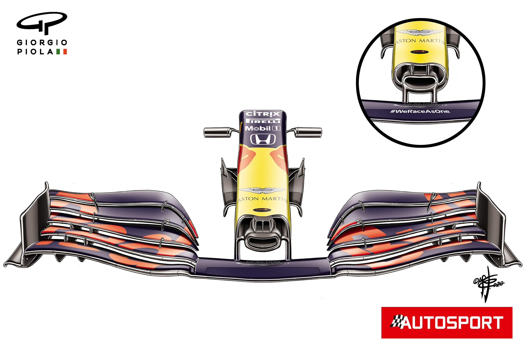 Red Bull RB16 nose specifications