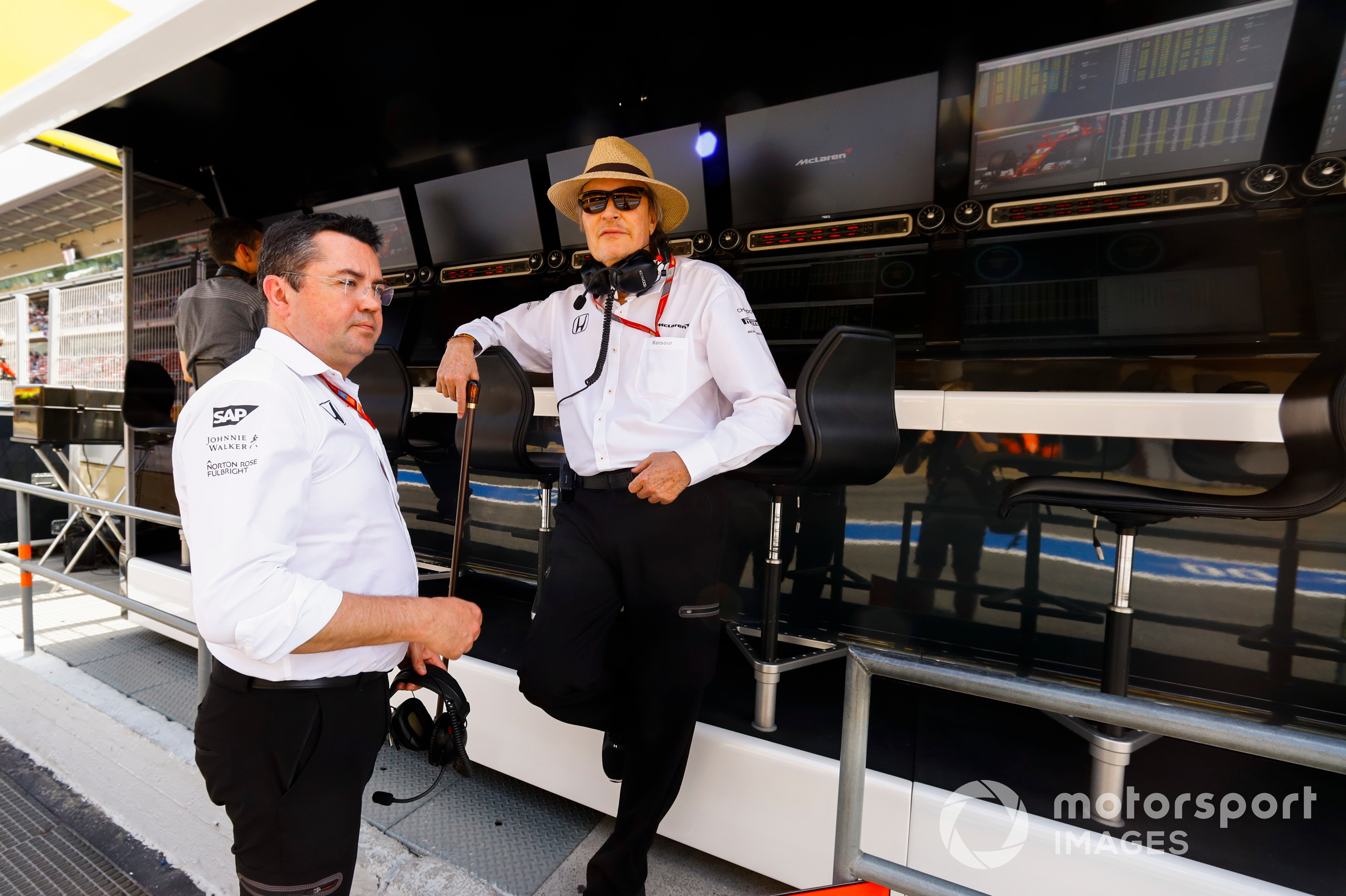 Mansour Ojjeh and Eric Boullier.